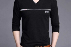 V-neck-long-sleeve-t-shirt