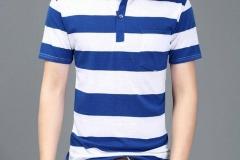 Men-short-sleeve-check-polo-shirt