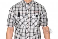 Men-Woven-Short-sleeve-Check-Shirt