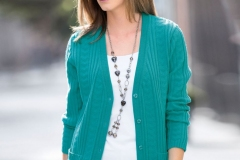 Women-casual-knitted-cardigan
